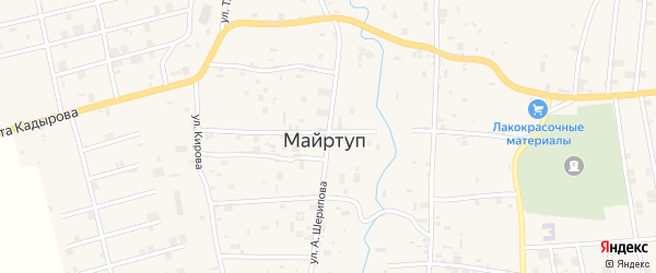 Улица А.Шерипова на карте села Цоци-Юрт с номерами домов