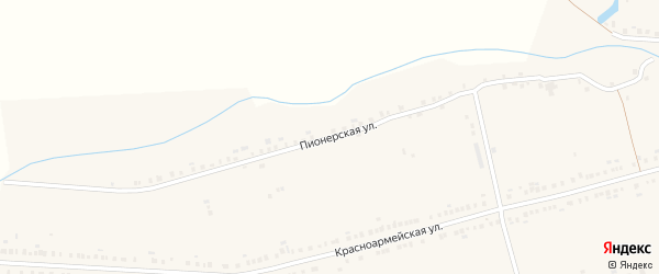 Пионерская улица на карте села Красные Четаи Чувашии с номерами домов