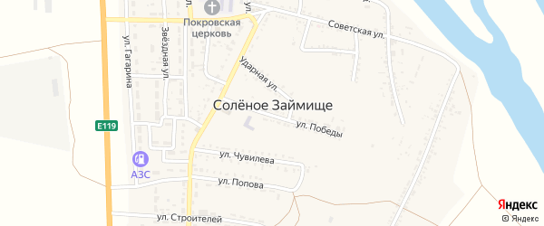 Животноводческая точка Большие Торны на карте села Соленого Займища Астраханской области с номерами домов