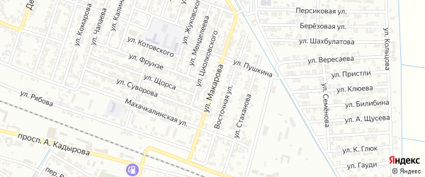 Улица Макарова на карте Гудермеса с номерами домов