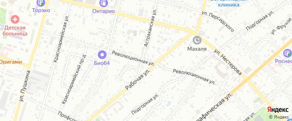 Революционная улица на карте Энгельса с номерами домов