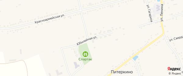 Юбилейная улица на карте села Красные Четаи Чувашии с номерами домов