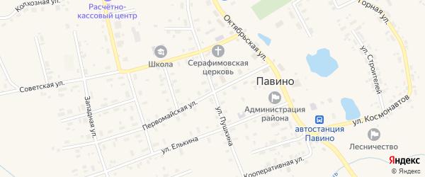 Улица Пушкина на карте села Павино Костромской области с номерами домов
