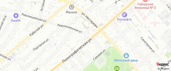 Революционный переулок на карте Энгельса с номерами домов