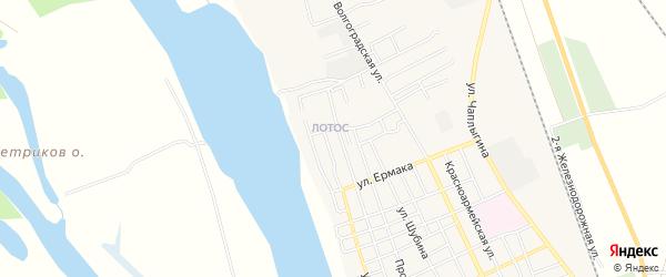 Микрорайон Лотос квартал-4 на карте Ахтубинска с номерами домов