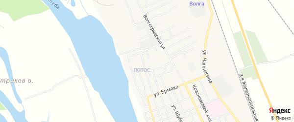 Микрорайон Лотос квартал-5 на карте Ахтубинска с номерами домов