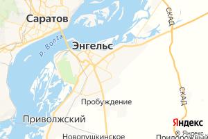 Карта г. Энгельс Саратовская область