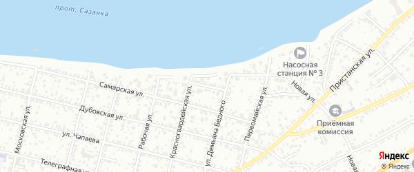 Киевский переулок на карте Энгельса с номерами домов