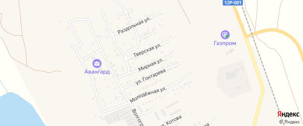 Мирная улица на карте Ахтубинска с номерами домов