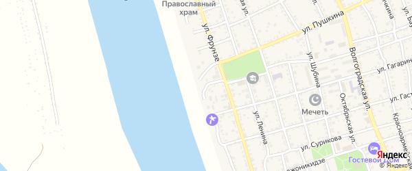 Набережная улица на карте поселка Джелги с номерами домов