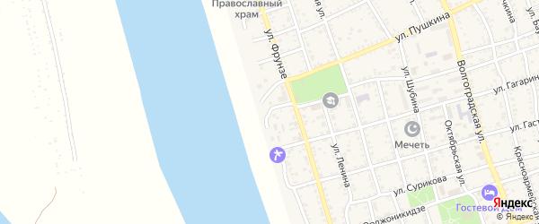 Набережная улица на карте Ахтубинска с номерами домов