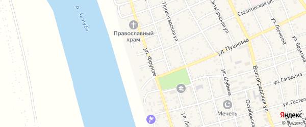 Переулок Пушкина на карте Ахтубинска с номерами домов