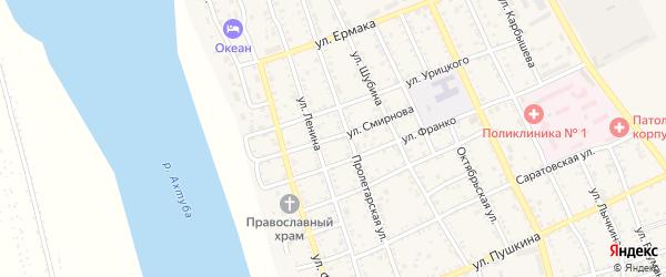 Улица Смирнова на карте Ахтубинска с номерами домов
