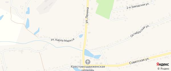 Улица Ленина на карте села Красные Четаи Чувашии с номерами домов