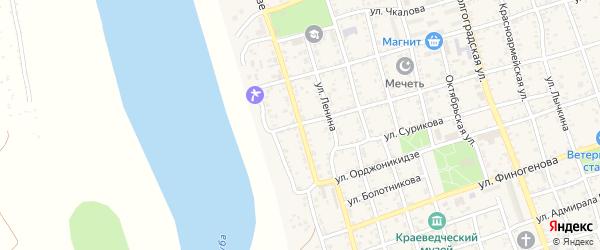 Улица Фрунзе на карте Ахтубинска с номерами домов