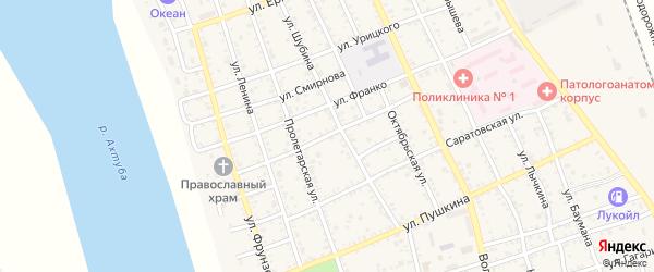Улица Фадеева на карте Ахтубинска с номерами домов