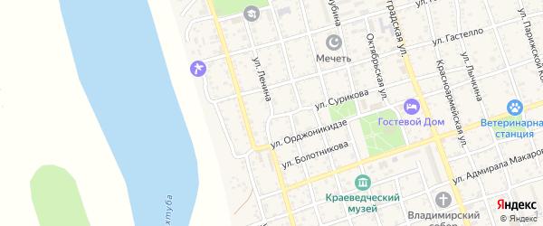 Улица Ленина на карте Ахтубинска с номерами домов