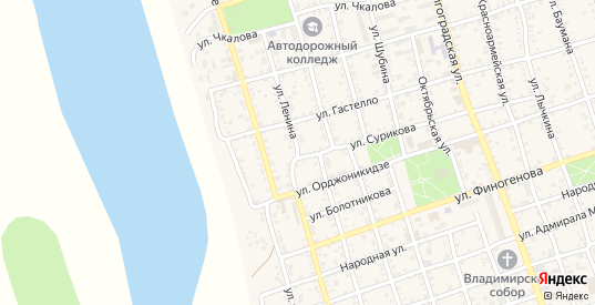Улица Ленина в Ахтубинске с номерами домов на карте. Спутник и схема онлайн