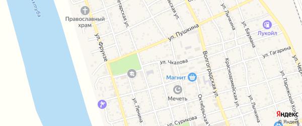 Улица Чкалова на карте Ахтубинска с номерами домов