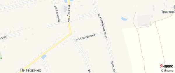 Улица Свердлова на карте села Красные Четаи Чувашии с номерами домов