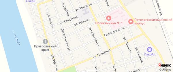 Комсомольский переулок на карте Ахтубинска с номерами домов