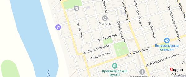 Пролетарская улица на карте Ахтубинска с номерами домов