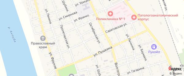 Саратовская улица на карте Ахтубинска с номерами домов