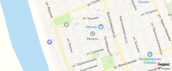 Улица Некрасова на карте Ахтубинска с номерами домов