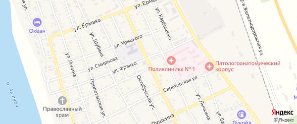 Волгоградская улица на карте Ахтубинска с номерами домов