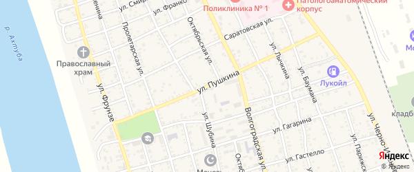Улица Пушкина на карте Ахтубинска с номерами домов