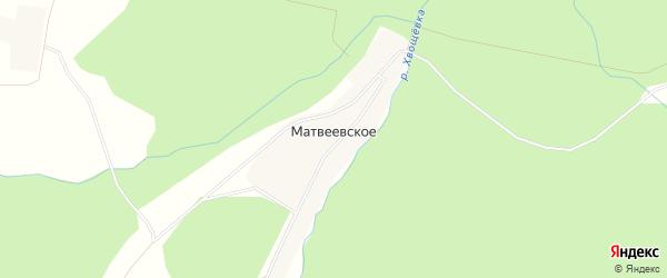 Карта Матвеевского села в Костромской области с улицами и номерами домов