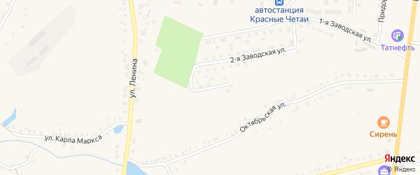 Заводская 3-я улица на карте села Красные Четаи Чувашии с номерами домов