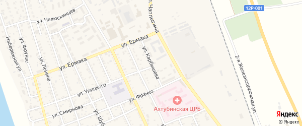 Улица Карбышева на карте Ахтубинска с номерами домов