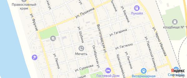 Улица Гагарина на карте Ахтубинска с номерами домов