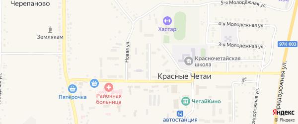 Новая улица на карте села Красные Четаи Чувашии с номерами домов