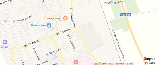 Улица Чаплыгина на карте Ахтубинска с номерами домов