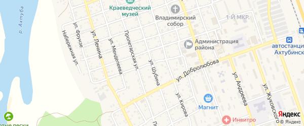 Улица Ватутина на карте Ахтубинска с номерами домов