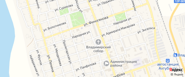 Улица Адмирала Макарова на карте Ахтубинска с номерами домов