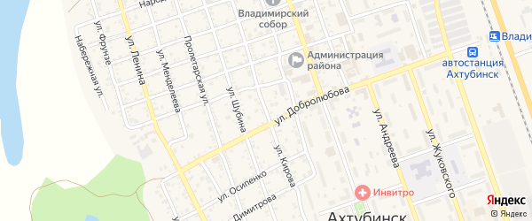 Улица Кирова на карте Ахтубинска с номерами домов