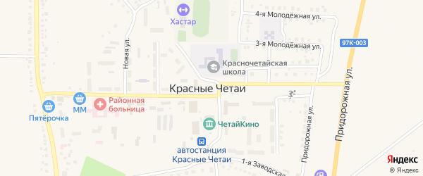 Площадь Победы на карте села Красные Четаи Чувашии с номерами домов