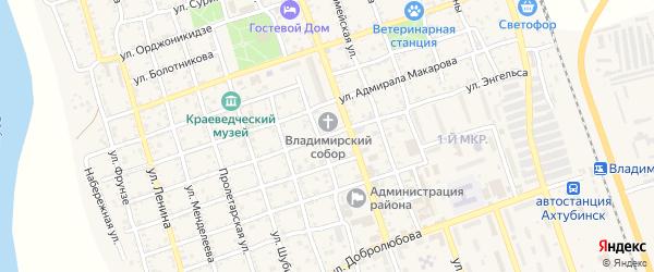Улица Энгельса на карте Ахтубинска с номерами домов