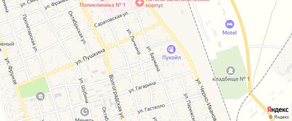 Донская улица на карте Ахтубинска с номерами домов