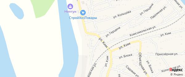 Тихая улица на карте Ахтубинска с номерами домов