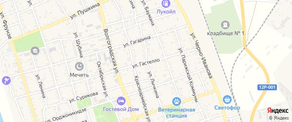 Улица Лычкина на карте Ахтубинска с номерами домов