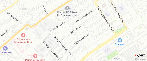 3-й Студенческий проезд на карте Энгельса с номерами домов
