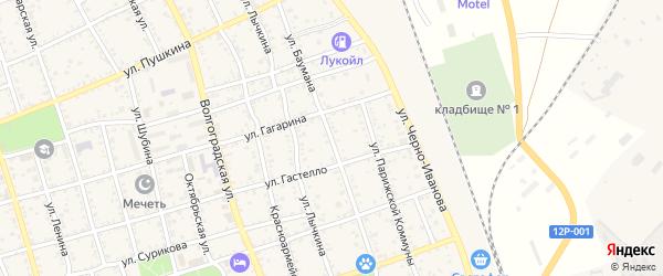 Улица Баумана на карте Ахтубинска с номерами домов