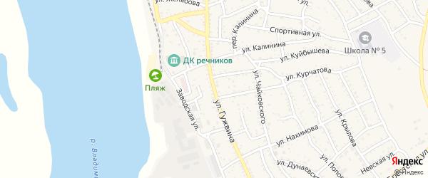 Улица П.Гужвина на карте Ахтубинска с номерами домов