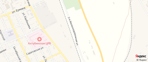 2-я Железнодорожная улица на карте Ахтубинска с номерами домов