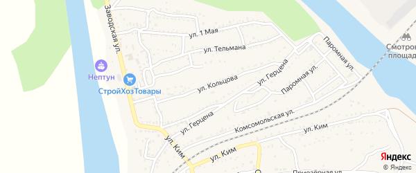 Улица Кольцова на карте Ахтубинска с номерами домов