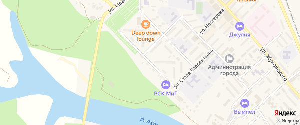 Улица Бахчиванджи на карте Ахтубинска с номерами домов
